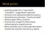 weak points