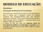 modelo de educa o