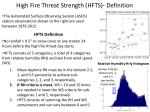high fire threat strength hfts definition