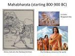 mahabharata starting 800 900 bc