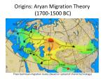 origins aryan migration theory 1700 1500 bc