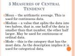 3 measures of central tendency