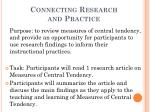 connecting research and practice