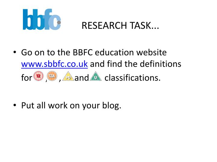 RESEARCH TASK...