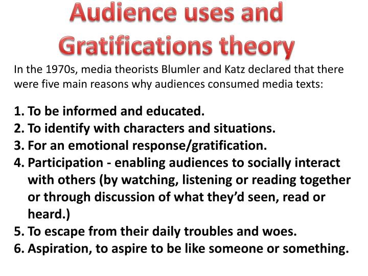 Audience uses and