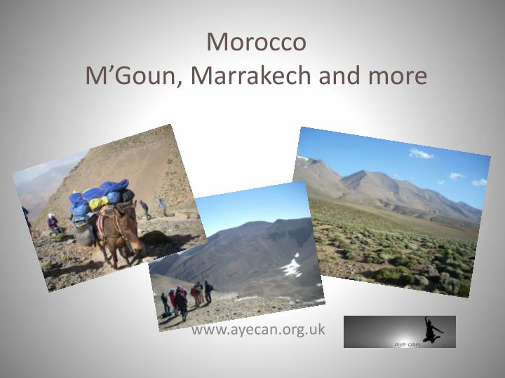 morocco m goun marrakech and more n.