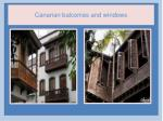canarian balconies and windows