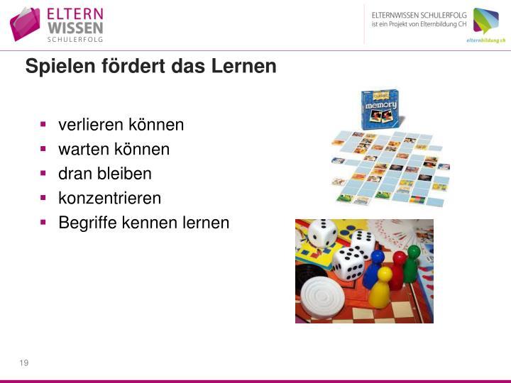 Spielen fördert das Lernen