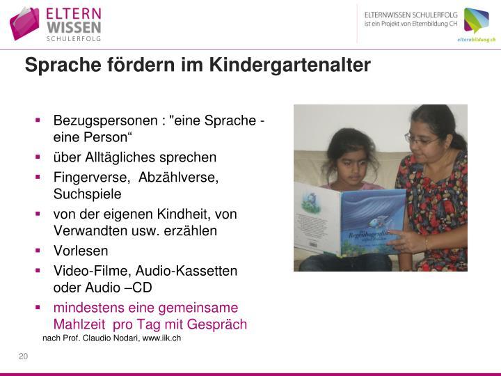 Sprache fördern im Kindergartenalter