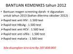 bantuan kemenkes tahun 2012
