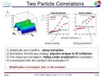 two particle correlations