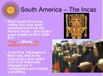 south america the incas