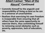 albert camus man of the absurd continued1