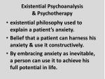 existential psychoanalysis psychotherapy