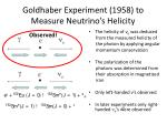 goldhaber experiment 1958 to measure neutrino s helicity