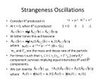 strangeness oscillations1