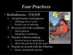 four practices