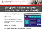 europees referentiekader voor het literatuuronderwijs