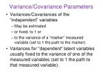 variance covariance parameters
