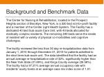 background and benchmark data