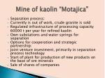mine of kaolin motajica1