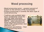 wood processing