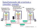 demultiplexa o n o orientada a conex es exemplo
