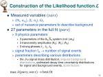 construction of the likelihood function