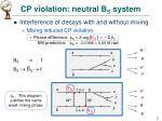 cp violation neutral b s system