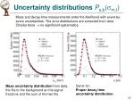 uncertainty distributions p s b m t