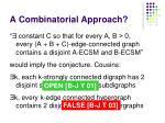 a combinatorial approach