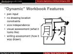 dynamic workbook features