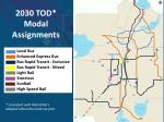 2030 tod modal assignments