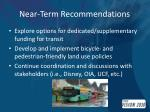 near term recommendations1