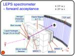 leps spectrometer forward acceptance