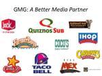 gmg a better media partner