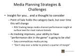 media planning strategies challenges2