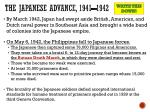 the japanese advance 1941 1942