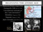 beginning the atomic age1