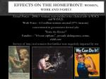 effects on the homefront women work and family