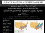 impact on society minorities rights