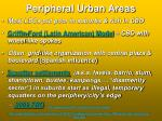peripheral urban areas