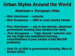 urban styles around the world