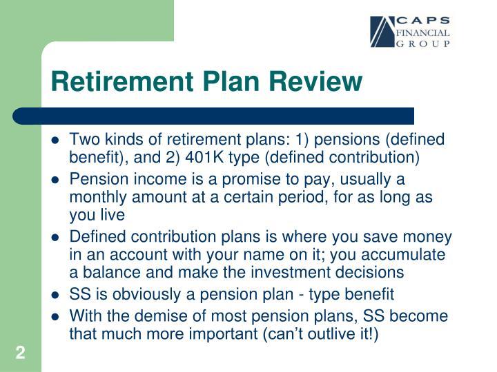 Retirement plan review