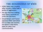 the beginnings of wwii
