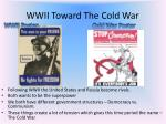 wwii toward the cold war