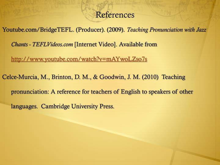 bridgetefl assignment The assignment is externally assessed by a trinity moderator unit 5: unknown language 10 this unit covers teaching methodologies and activities appropriate for.