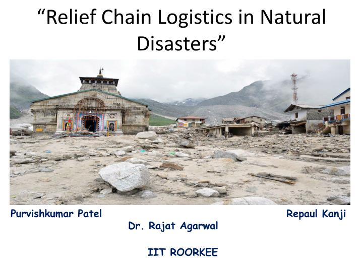 relief chain logistics in natural disasters n.