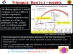 triangular flow v 3 models