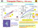 triangular flow v 3 pid and p t